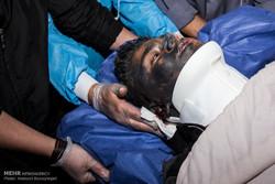 مصدومان آخرین چهارشنبه سال در بیمارستان شهید مطهری