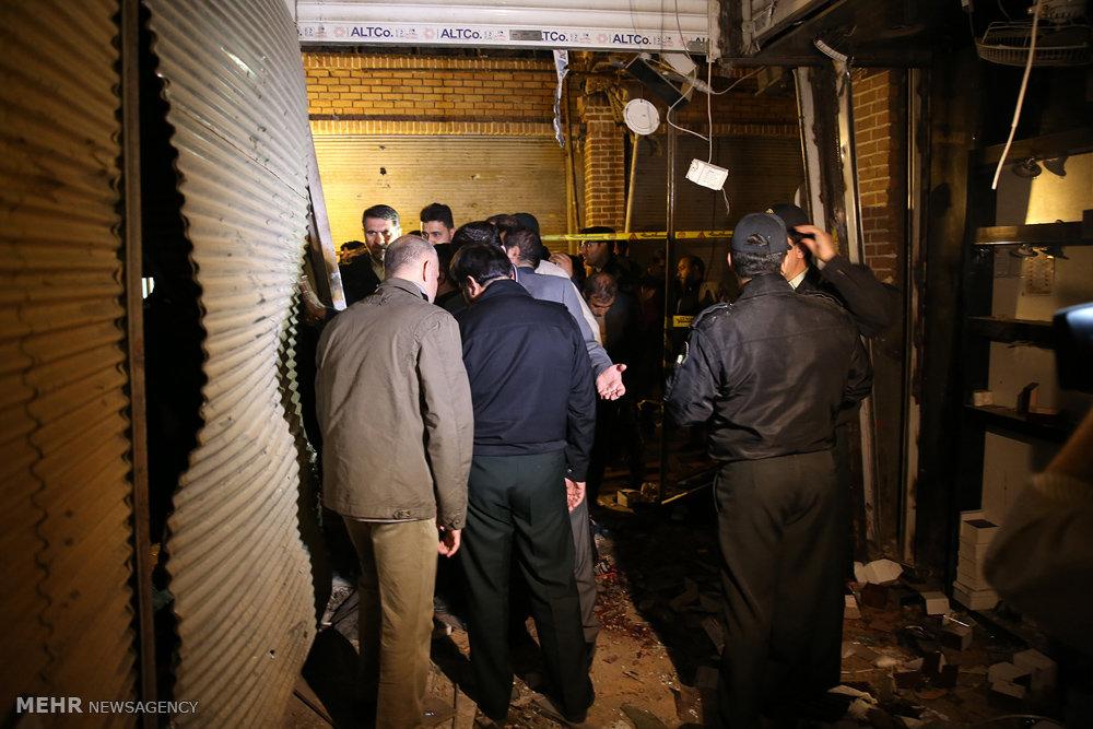 عکس های انفجار شدید در پاساژ قیصریه بازار تهران