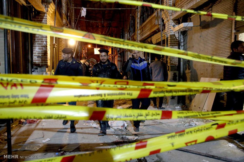 عکس های انفجار در پاساژ قیصریه بازار تهران + علت حادثه