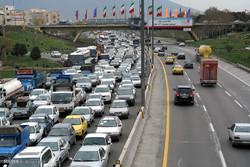 ترافیک آخرین روز سال در محور کرج چالوس