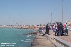 حضور گسترده مسافران نوروزی در نوار ساحلی بوشهر