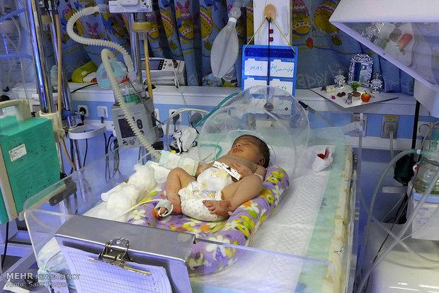 تولد نخستین نوزاد سال 95 در لحظه تحویل سال