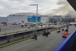 مشاهد من الهجمات الارهابية على مطار بروكسل