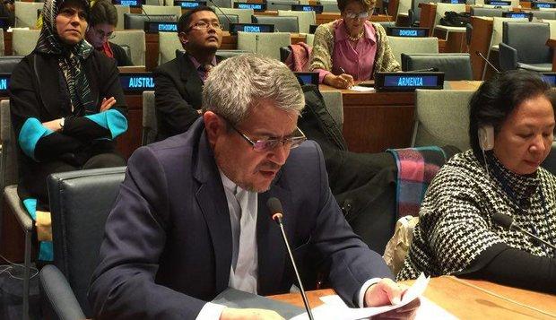 مندوب ايران لدى الامم المتحدة يدعو إلى نبذ ثقافة التطرف