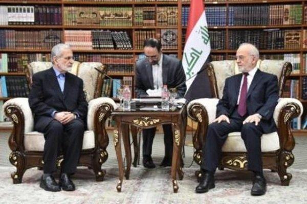 خرازي يبحث مع وزير الخارجية العراقي مستجدات الأوضاع الاقليمية