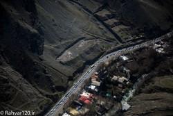 عکس هوایی جاده چالوس