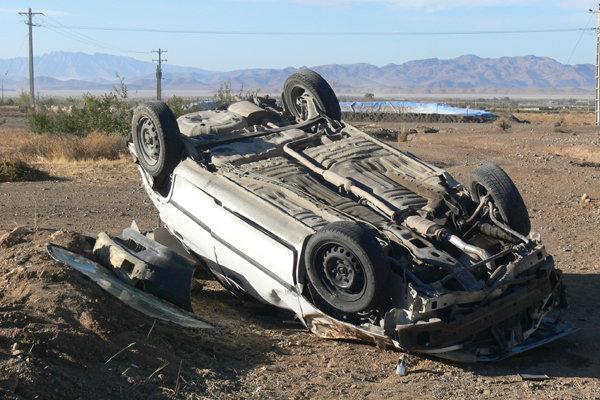 برخورد دو خودرو در جاده تبریز ارومیه حادثه ساز شد