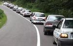 ترافیک سنگین در مرزن آباد-چالوس