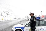 بارش برف در محورهای کوهستانی البرز/رانندگان احتیاط کنند