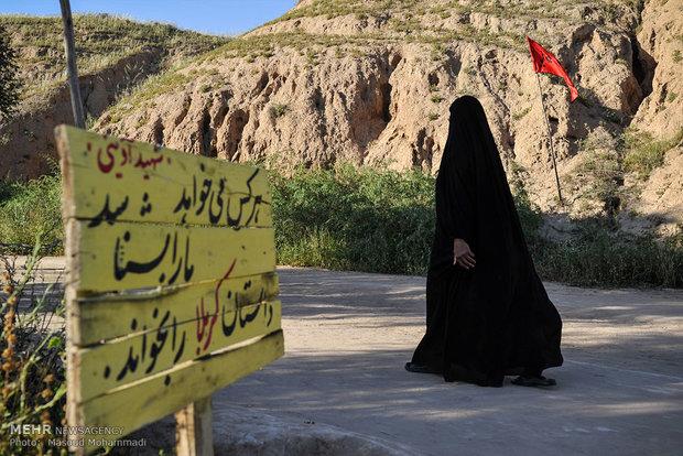 بازدید کاروان راهیان نور از  یادمان شهدای عملیات فتح المبین