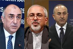 Iran Azerbaijan, Turkey FMs