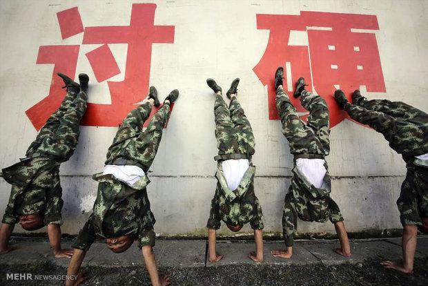 تمرینات پلیس شبه نظامی چین