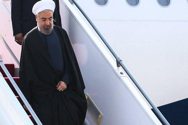صدر حسن روحانی مغربی آذربائیجان پہنچ گئے