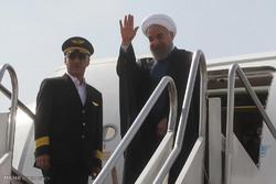 رئيس الجمهورية حسن روحاني يغادر زاهدان متوجها الى اسلام آباد