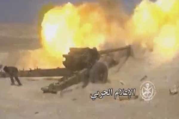 فلم/ شامی فوج نے القریتین کے اطراف کے علاقہ پر قبضہ کرلیا