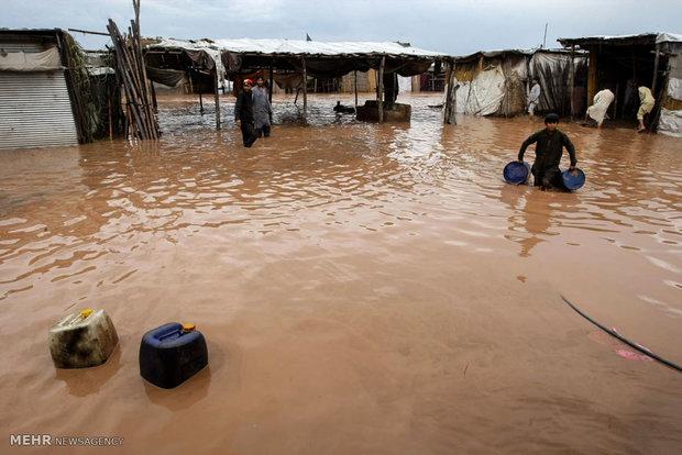 افغانستان میں شدید بارشوں سے نشیبی  علاقوں میں سیلاب