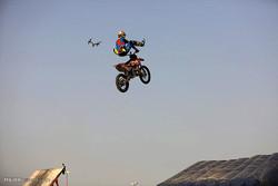 Kiş Adası'nda motosiklet gösterisi/ Foto
