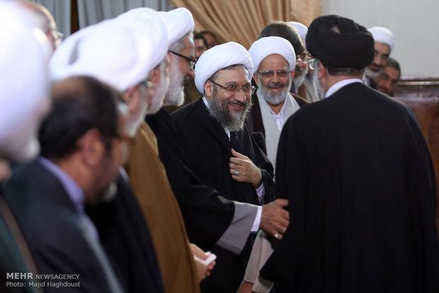 مراسم تقديم المدعي العام الجديد حجة الاسلام محمد جعفر منتظري