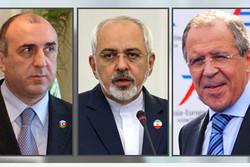 وزیران خارجه ایران و آذربایجان و روسیه