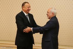 دیدار وزیرامورخارجه ایران با رئیس جمهور آذربایجان