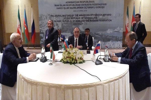 نشست وزراس خارجه ایران روسیا آذربایجان
