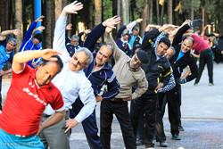 ورزش صبحگاهی در پارکهای سیرجان
