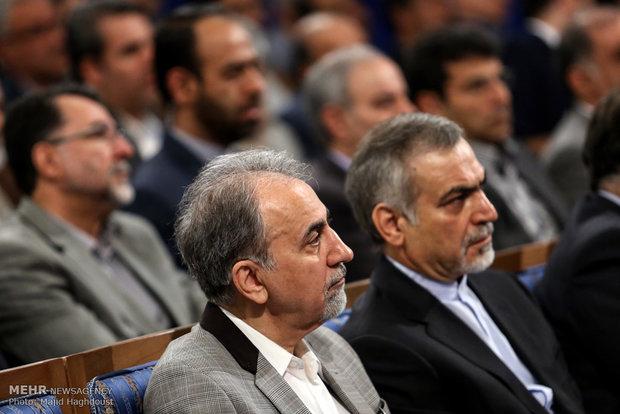 استقبال حسن روحاني مدراء مؤسسة الاسكان