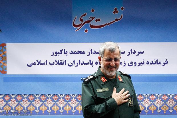 نشست خبری سردار محمد پاکپور فرمانده نیروی زمینی سپاه