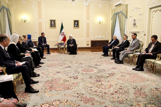 دیدار وزیر امورخارجه استونی با رئیس جمهور