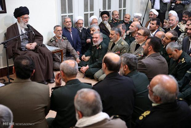 دیدار عیدانه فرماندهان ارشد نیروهای مسلح