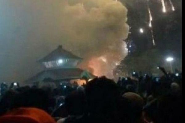 آتش سوزی در معبد هند