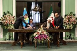 مراسم استقبال رسمی از رئیس جمهور قزاقستان