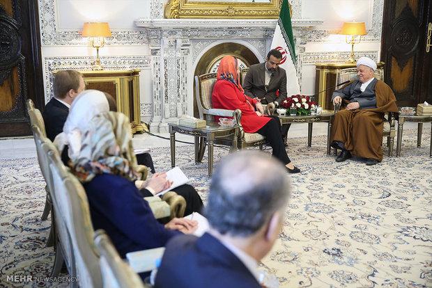 دیدار وزیر خارجه استونی با آیت الله هاشمی رفسنجانی