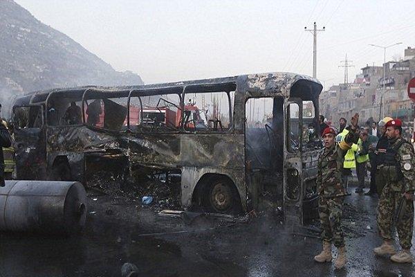 افغانستان میں بس پر خودکش حملے میں 12 اہلکار ہلاک