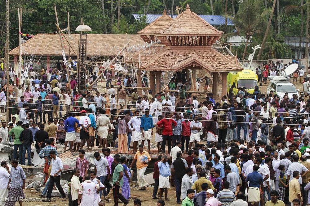 آتش سوزی در معبدی در هند