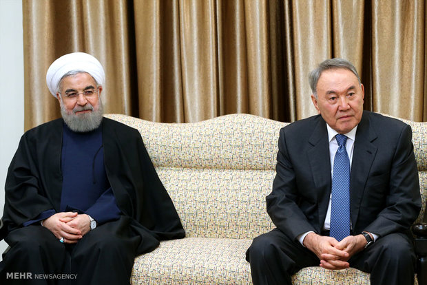 Leader receives Kazakh Pres.