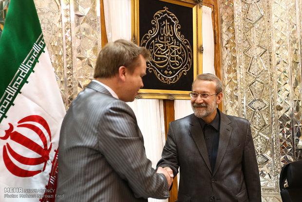 Larijani, Finnish official meet in Tehran