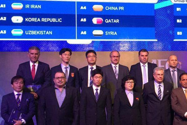 İran Milli Takımı, Güney Kore, Özbekistan ve Çin'le aynı grupta