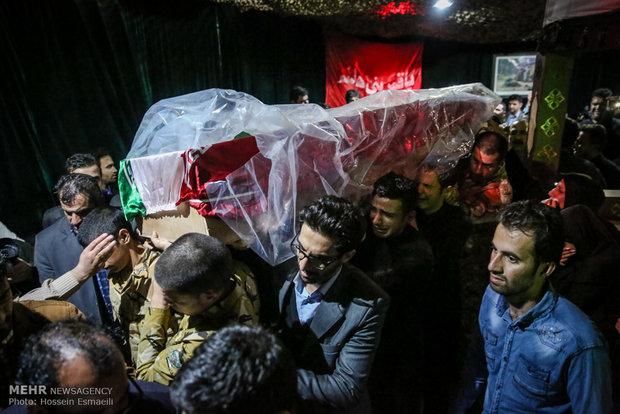 وداع با دو شهید مدافع حرم ارتش جمهوری اسلامی ایران