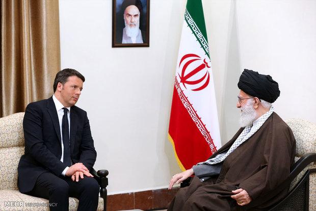 دیدار نخست وزیر ایتالیا با رهبر معظم انقلاب
