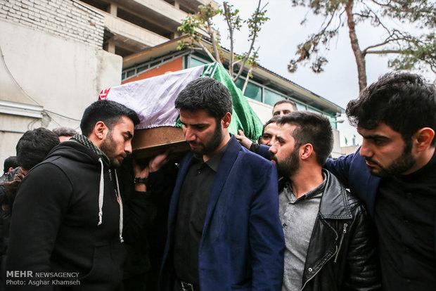 وداع با پیکر شهید مدافع حرم