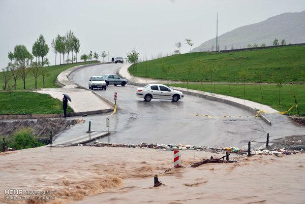 Western Iran under heavy rain