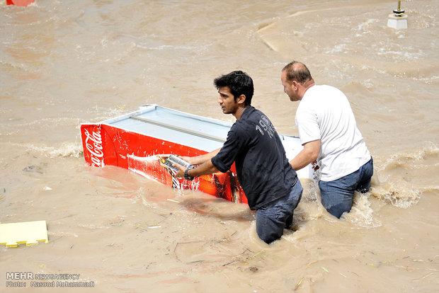 عکس سیل عکس رودخانه دز رودخانه دز حوادث خوزستان اخبار خوزستان