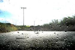 جاده - بارندگی - باران