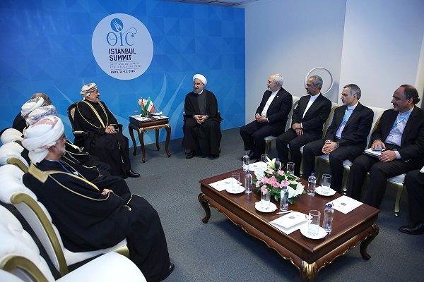 دیدار روحانی و رئیس مجلس عمان