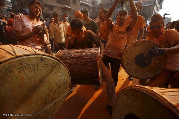 جشنواره سیندور جاترا در نپال
