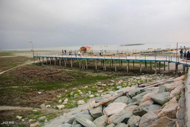 تکرار فاجعه دریاچه ارومیه در خلیج گرگان /تصاویر
