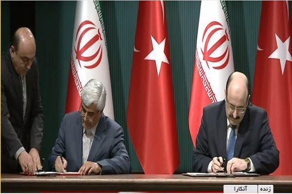 إبرام 8 مذكرات تفاهم واتفاقيات تعاون بين ايران وتركيا