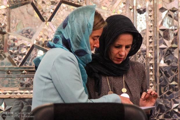 دیدار مسئول سیاست خارجی اتحادیه اروپا با رئیس مجلس شورای اسلامی
