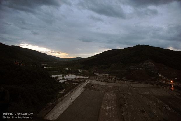 طغیان آب در سد نرماب مینودشت گنبد کاووس استان گلستان